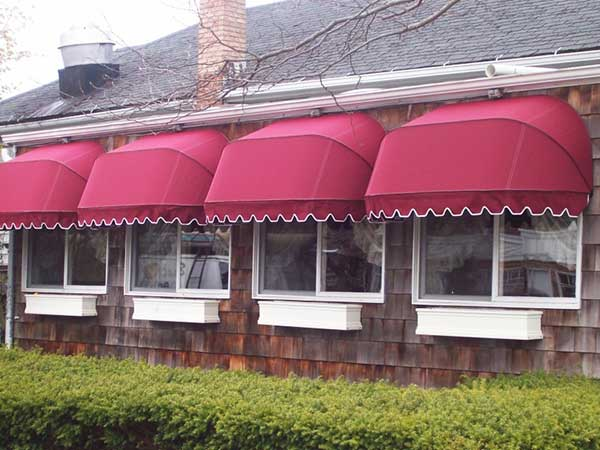 Red Shop Awning