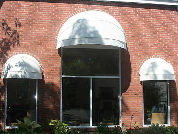 White Curved Window Awning
