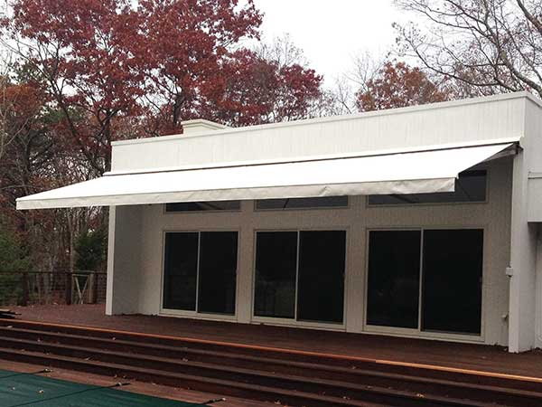 back deck Retractable Awning white