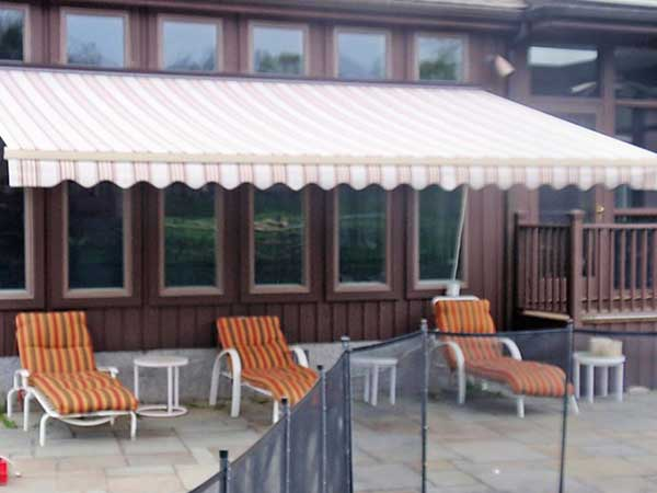 Brown Retractable Awning
