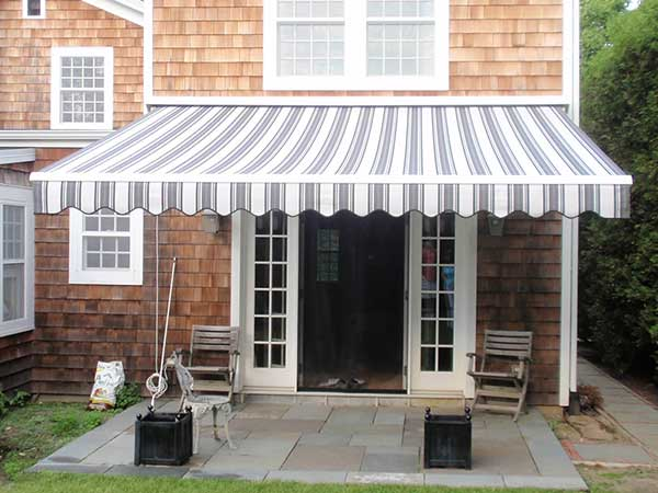 Classic Striped Retractable Awning