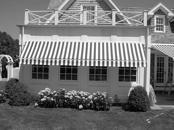 Stripes Retractable Awning