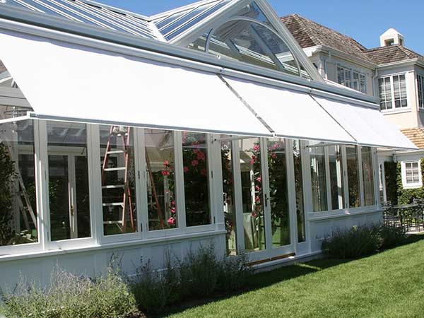 Triple White Retractable Awning